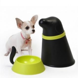 Контейнер и миска для собаки Pupp Qualy Черный