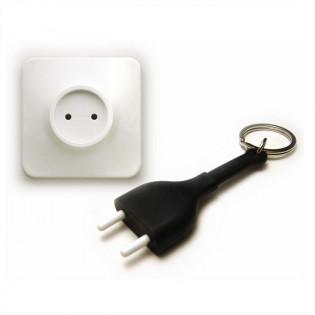 Ключница настенная и брелок для ключей Unplug Qualy Черный / Белый