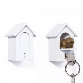 Ключница настенная и брелок для ключей Watch Dog Qualy Коричневая
