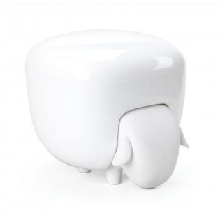 Контейнер для хранения ватных палочек и дисков Sheepshape Cotton Box Qualy Белый / Белый