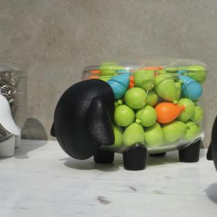 Контейнер Sheepshape Container Junior Qualy Прозрачный / Черный