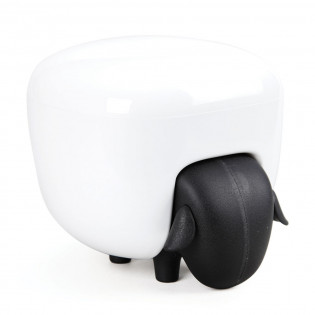 Контейнер для хранения ватных палочек и дисков Sheepshape Cotton Box Qualy Черный / Белый