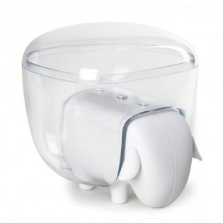 Контейнер для хранения ватных палочек и дисков Sheepshape Cotton Box Qualy Белый / Прозрачный