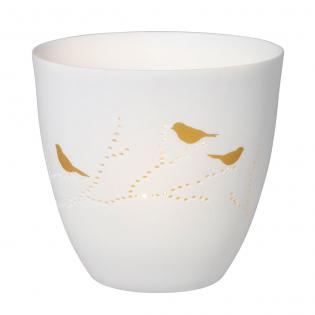 Подсвечник фарфоровый Golden Birds Poetry Light Raeder