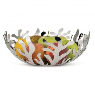 Фруктовница (ваза для фруктов) Mediterraneo Alessi 29 см Полированная сталь