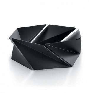 Фруктовница (ваза для фруктов) Kaleidos Alessi Черная