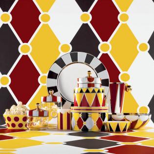 Ваза из нержавеющей стали Circus 25 см Alessi Белая / Красная / Желтая