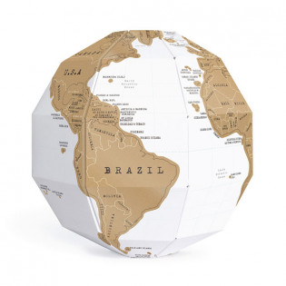 Скретч глобус 3D World Map Scratch Globe Luckies