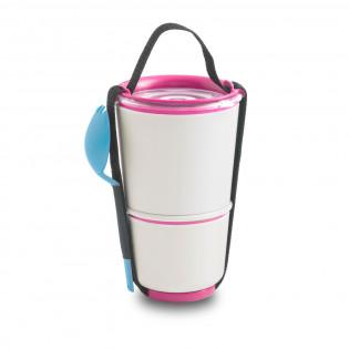 Ланч бокс / Контейнер Lunch Pot Black+Blum Белый / Розовый