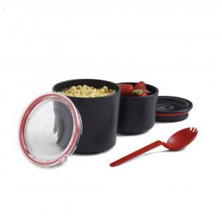 Ланч бокс / Контейнер Lunch Pot Black+Blum Черый / Красный