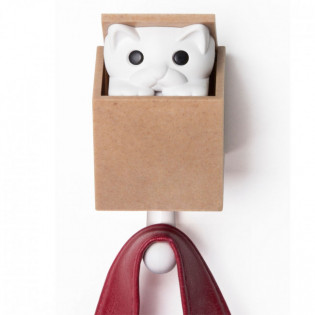 Крючок настенный Kitt-a-boo Qualy Белый / Коричневый