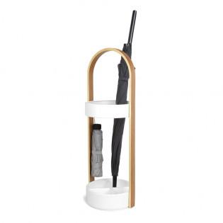 Подставка для зонтов Hub Umbra Белая / Natural