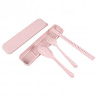 Набор столовых приборов Travel Eco-Wheat #1 Be Different Розовый
