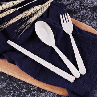 Набор столовых приборов Travel Eco-Wheat #1 Be Different Бежевый