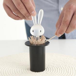 Подставка для зубочисток Magic Bunny Alessi Черная