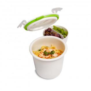 Контейнер Lunch Pot Single Black+Blum Белый / Зеленый