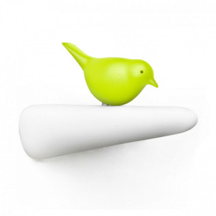 Крючок настенный Picky Sparrow Qualy Белый / Зеленый