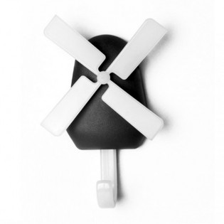 Крючок настенный Windmill Qualy Черный