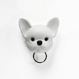 Ключница настенная Frenchy Dog Qualy Белая