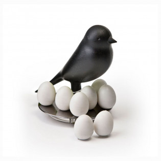 Держатель магнитов Magnetic Egg Sparrow Qualy Черный