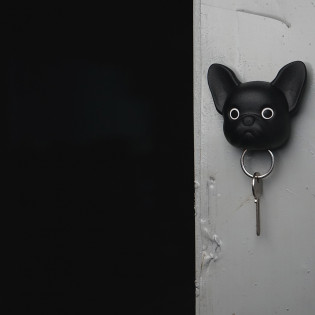 Ключница настенная Frenchy Dog Qualy Черная