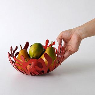 Фруктовница (ваза для фруктов) Mediterraneo Alessi 21 см Красная
