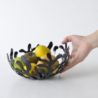 Фруктовница (ваза для фруктов) Mediterraneo Alessi 21 см Черная