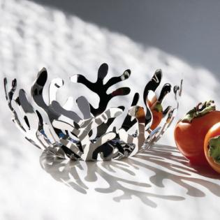 Фруктовница (ваза для фруктов) Mediterraneo Alessi 25 см Полированная сталь