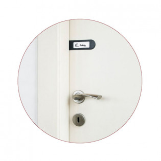 Набор дверных бирок Doortag Monkey Business Черный