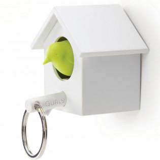 Ключница настенная и брелок для ключей Cuckoo Qualy Белый / Зеленый