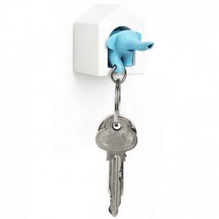 Ключница настенная и брелок для ключей Elephant Qualy Синий
