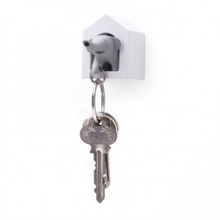 Ключница настенная и брелок для ключей Elephant Qualy Серый