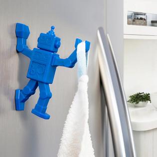 Магнитный крючок для холодильника Robohook Peleg Design Синий