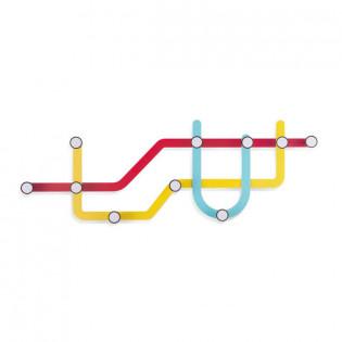 Настенная вешалка Subway Umbra Разноцветная