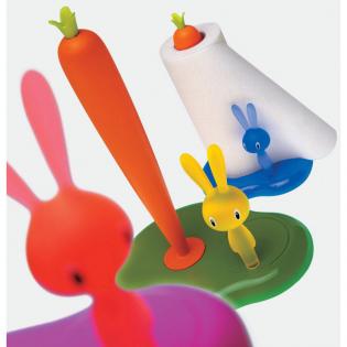 Держатель бумажных полотенец Bunny & Carrot Alessi Белый