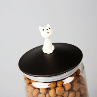 Контейнер для кошачьего корма Mio Jar Alessi Черная крышка