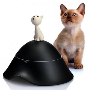 Миска для кошек с крышкой Mio Alessi Черная