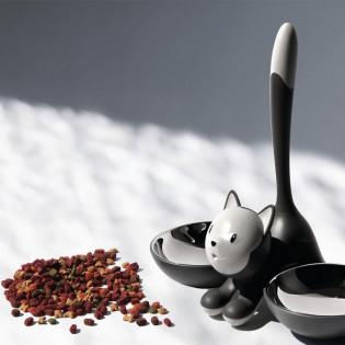 Миска для кошек Tigrito Alessi Черная