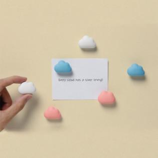 Набор магнитов Note On tne Cloud Qualy Голубые / Розовые