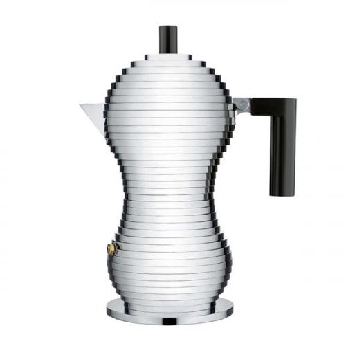 Гейзерная кофеварка для эспрессо Pulcina Alessi Черная