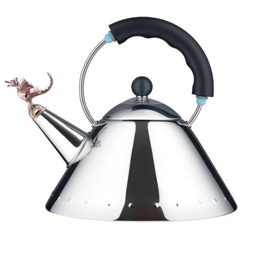 Чайник со свистком Tea Rex Alessi Черный