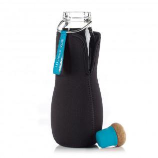 Эко бутылка стеклянная Eau Good Black+Blum Синяя