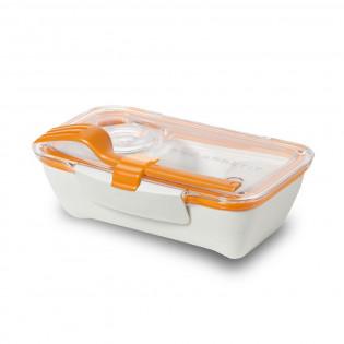 Ланч бокс прямоугольный Bento Box Black+Blum Белый / Оранжевый