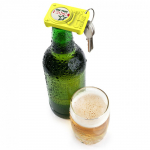 Брелок - открывалка для бутылки Opening Act Rocket Design Желтый