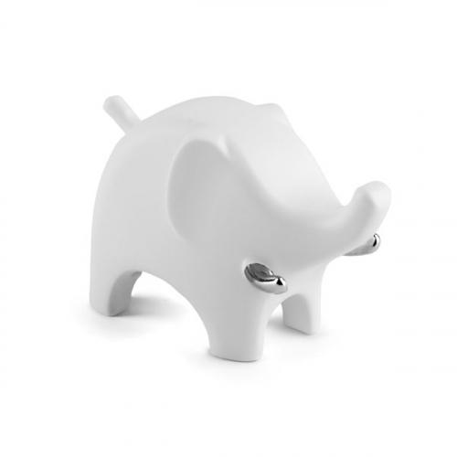Держатель для колец Anigram Elephant Umbra Белый / Хром