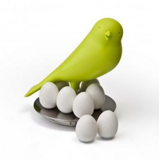 Держатель магнитов Magnetic Egg Sparrow Qualy Зеленый
