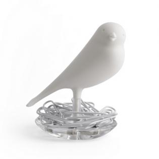 Держатель скрепок Nest Sparrow Qualy Белый