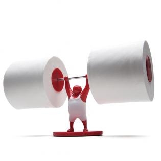 Держатель туалетной бумаги Mr.T Monkey Business Красный