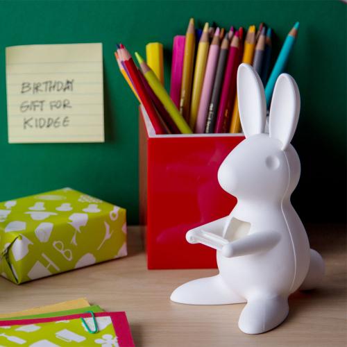 Диспенсер для скотча Desk Bunny Qualy Белый