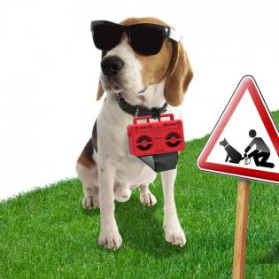 Диспенсер пакетиков для выгула собак Boom Dog Rocket Design Красный